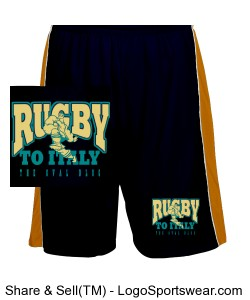 Rugby To Italy Fit Mesh Short Design Zoom