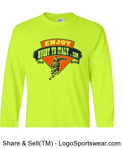 Rugby To Italy yellow long sleeves Design Zoom