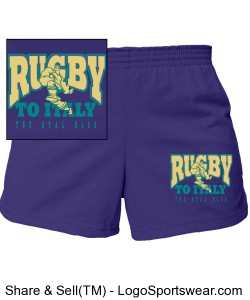Rugby To Italy Junior Cheerleading Short Design Zoom