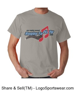 Rugby To Italy music Adult T-shirt Design Zoom