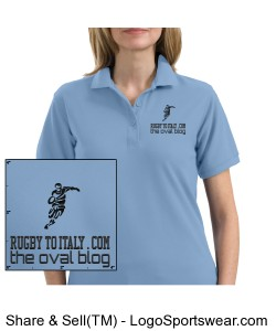 Rugby To Italy Ladies Silk Sport Shirt. Design Zoom