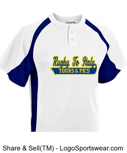 Rugby To Italy baseball shirt Design Zoom
