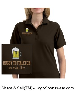 Rugby To Italy Ladies Silk Touch Sport Shirt. Design Zoom