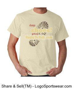 Rugby To Italy footstep tshirt Design Zoom