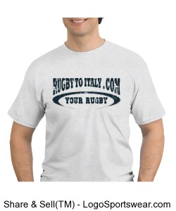 Rugby To Italy oval tshirt Design Zoom