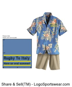 Rugby To Italy Hawaiian style Design Zoom