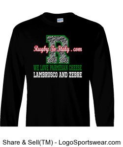 Zebre black Long Sleeve Adult T-Shirt Design Zoom